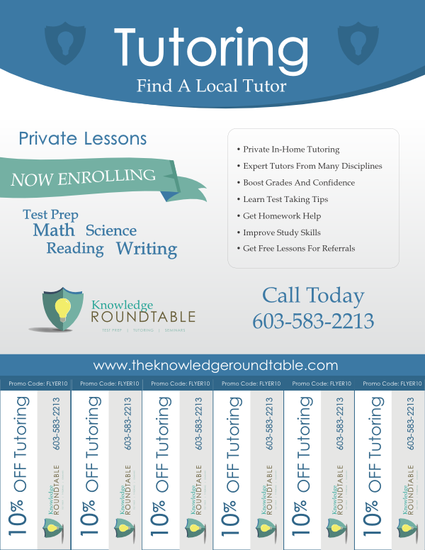 Cool Tutoring Flyers  Tutoring