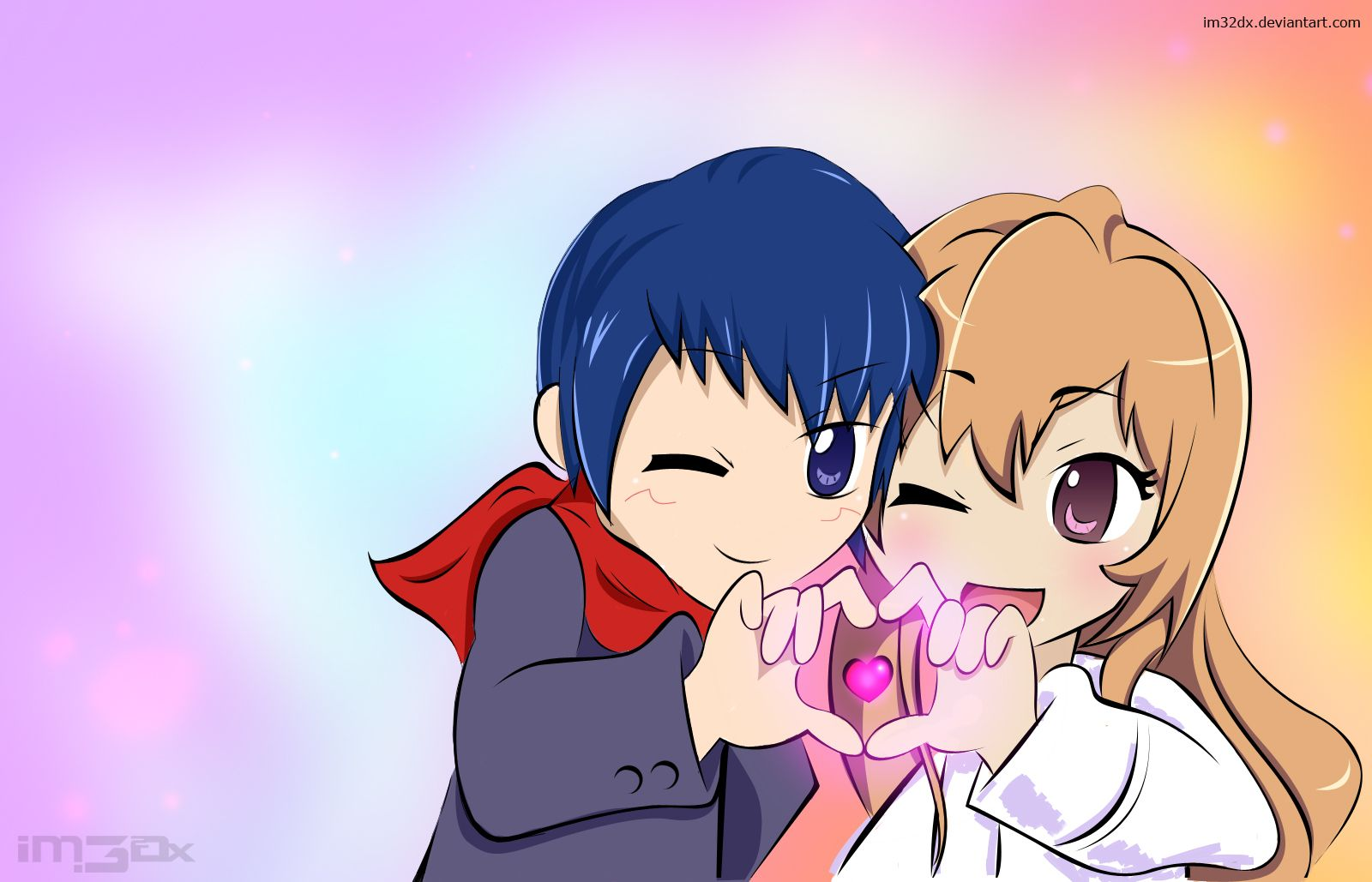 Day 72 - I wish I'd done everything on earth with you.... Ryuuji x Taiga chibi