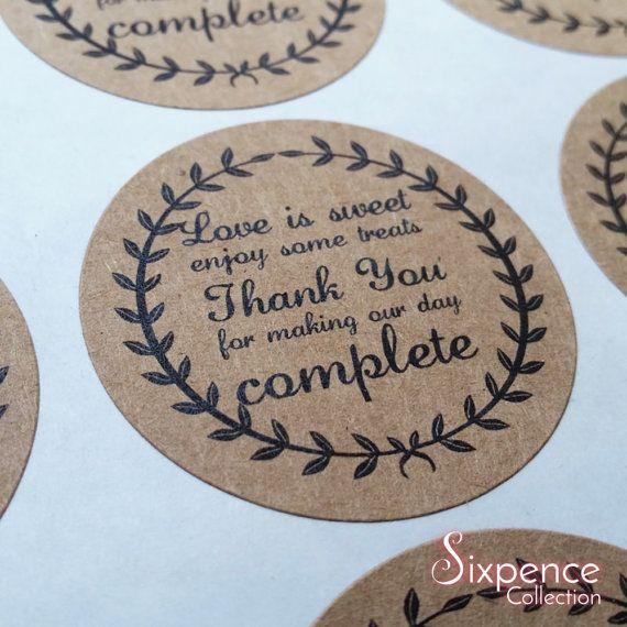 Snowflakes Personalised Wedding favour stickers, 1xA4 sheet