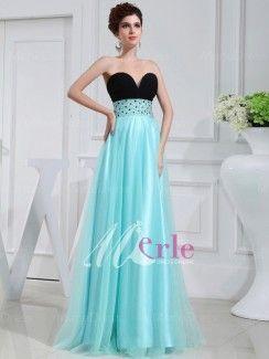 Una línea de novia vestido de satén sin mangas rebordear fascinante elástico tejido