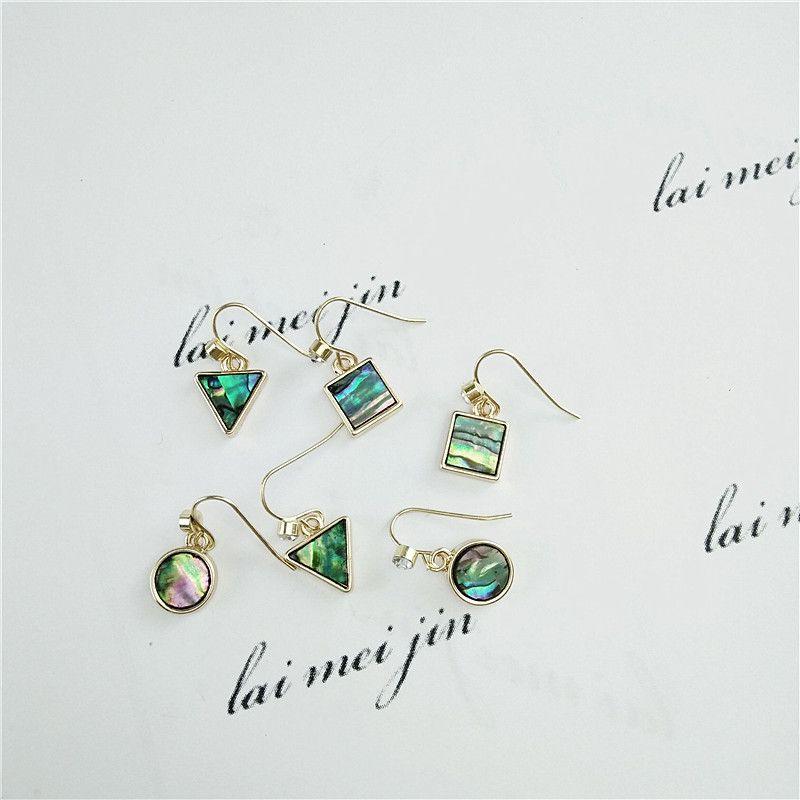 Europa e stati Uniti gioielli all'ingrosso di modo contratto squisita colore naturale conchiglie orecchini orecchini accessori