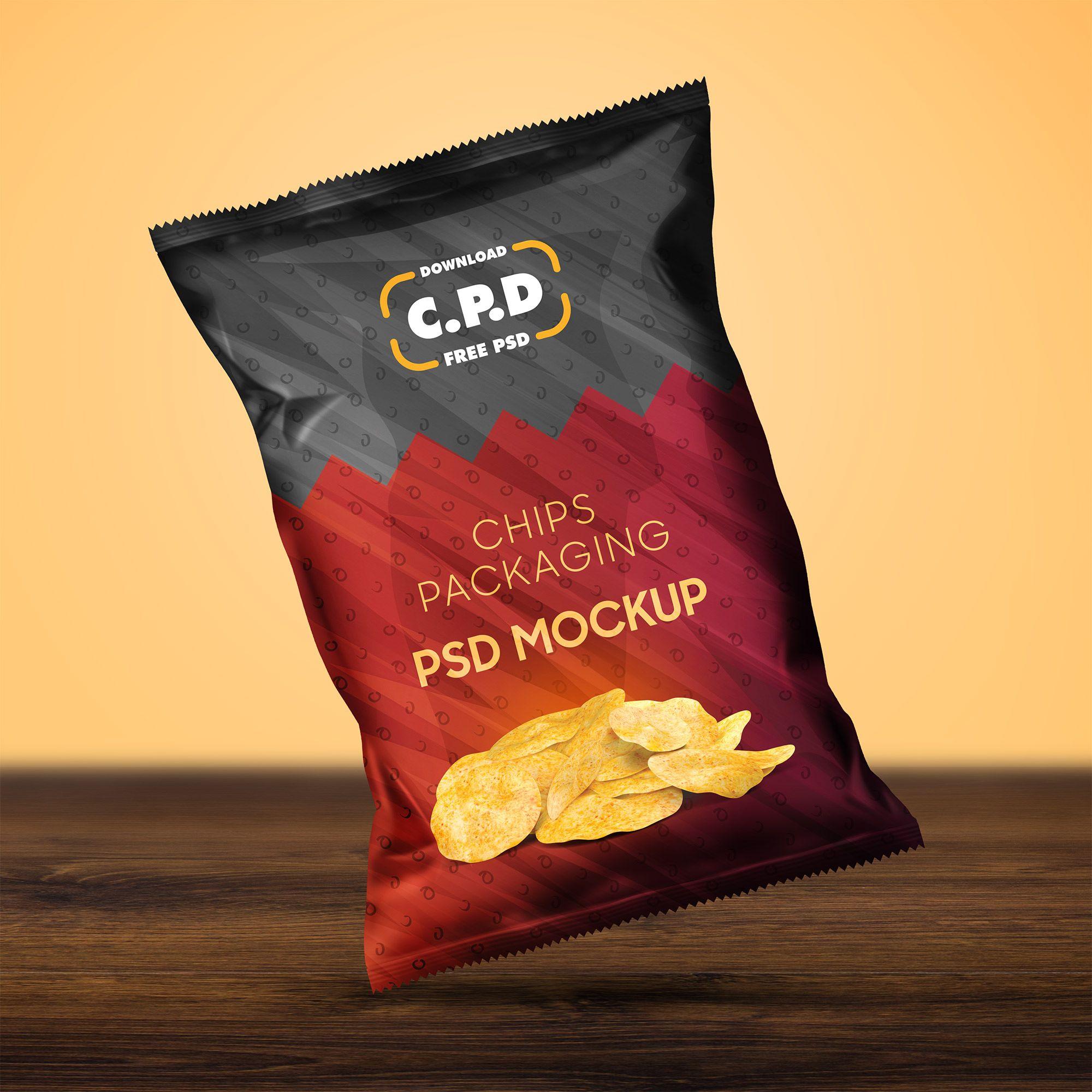 Download 25 Chips Packaging Mockup Templates For Presentation Chip Packaging Food Poster Design Packaging