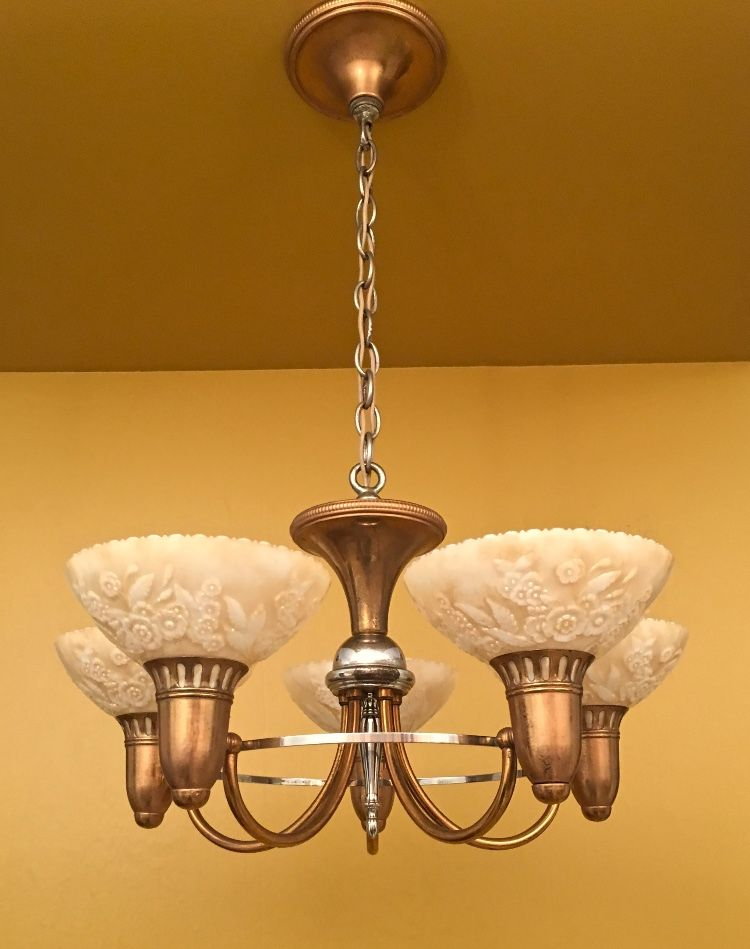 Fabulous 1930s Chandelier By Gill Glass Antique Lighting Art Deco Lighting Vintage Lighting