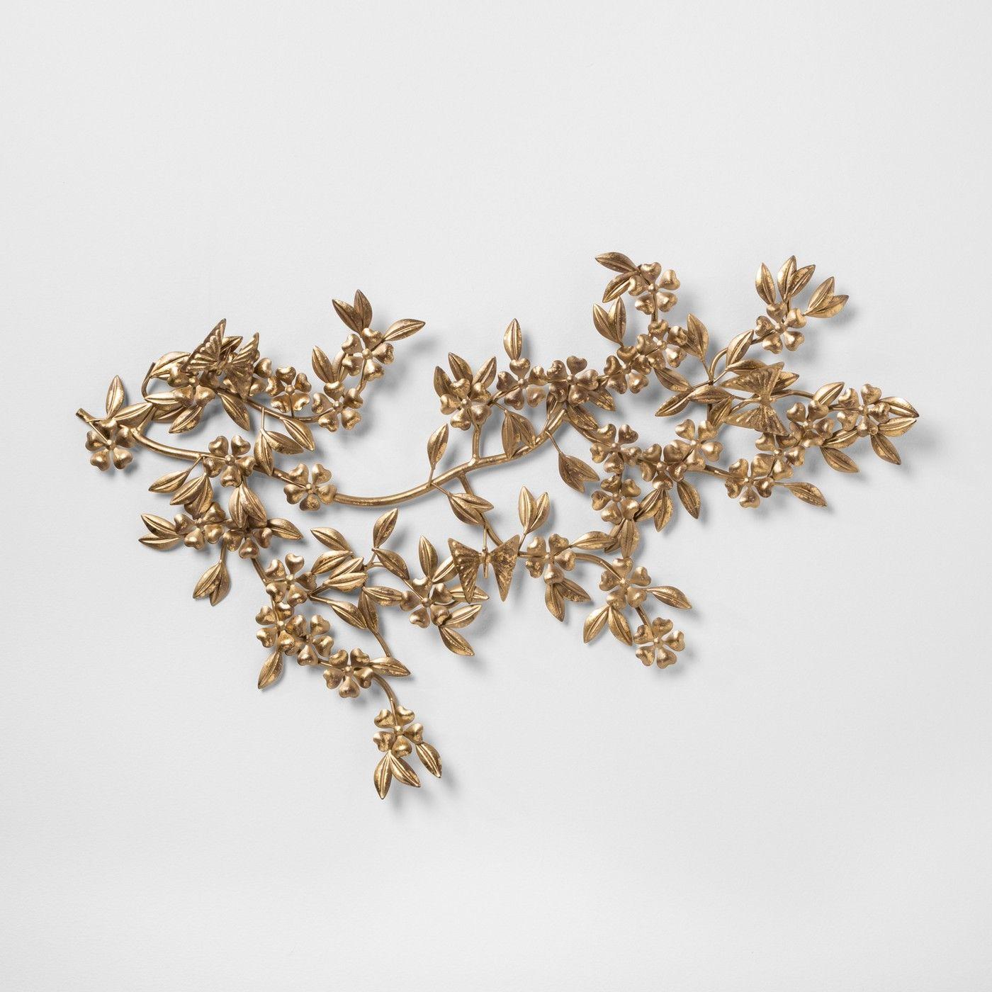 Opalhouse Wreath Gold Metal Leaf