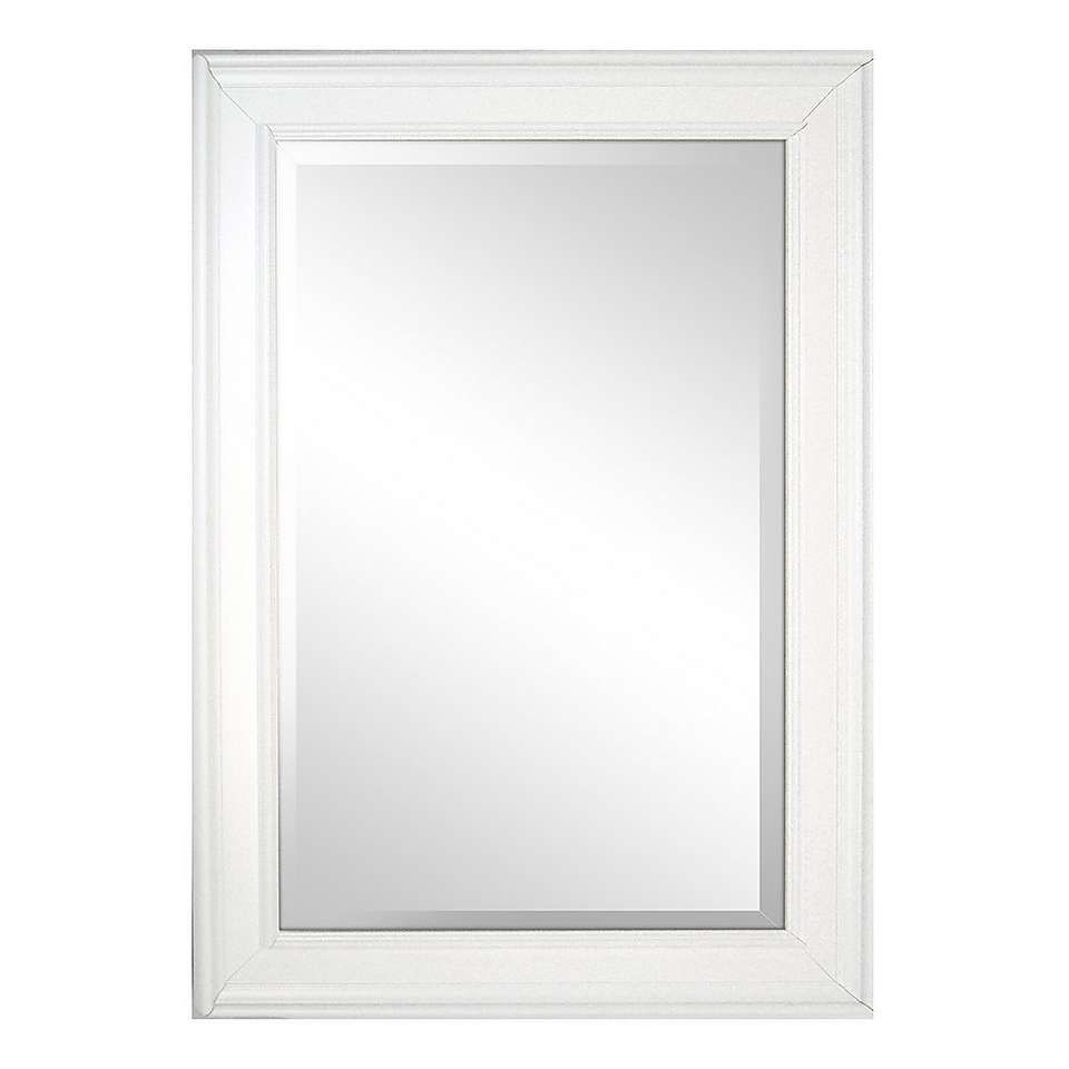 White Framed Mirror | Wood mirror, Beveled mirror, Ornate ...