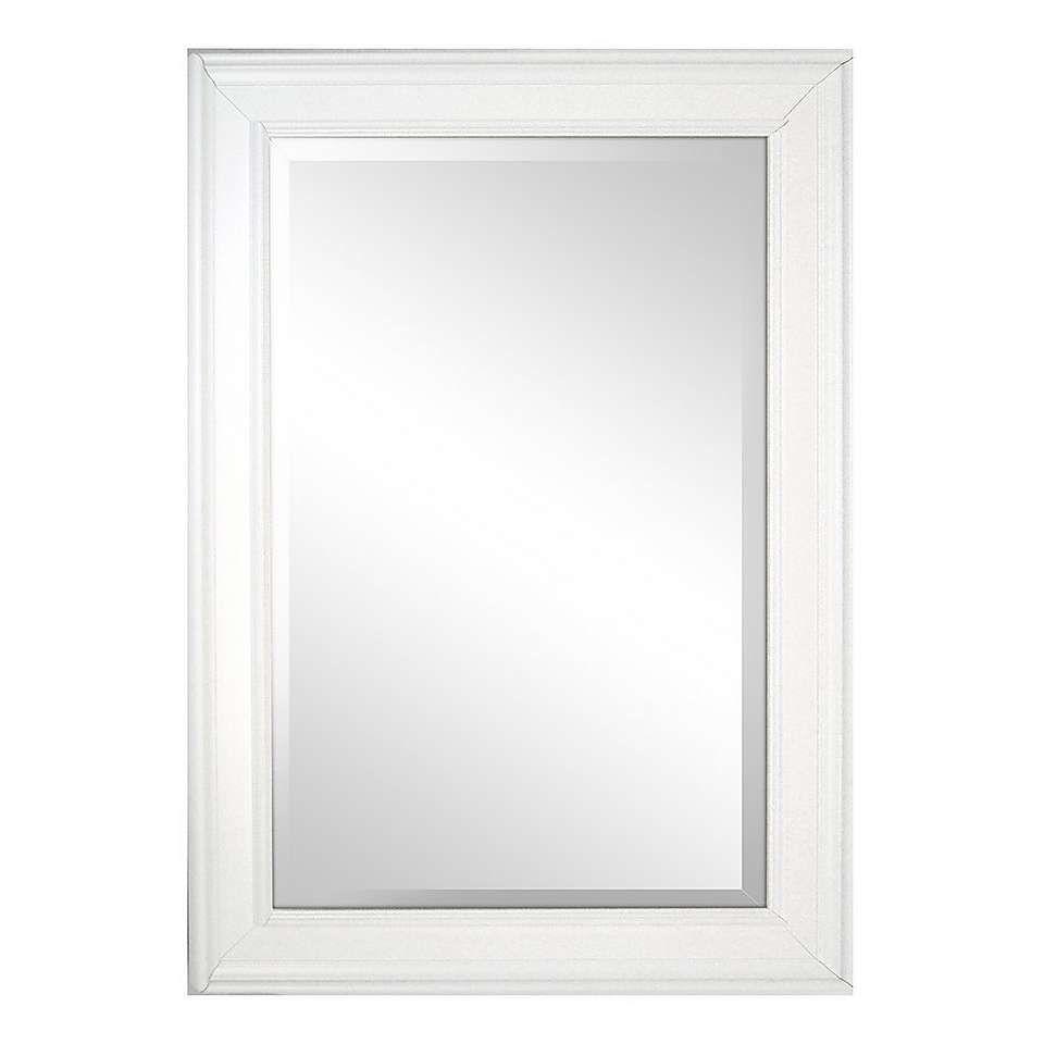 White Framed Mirror | Wood mirror, Beveled mirror, Ornate ...