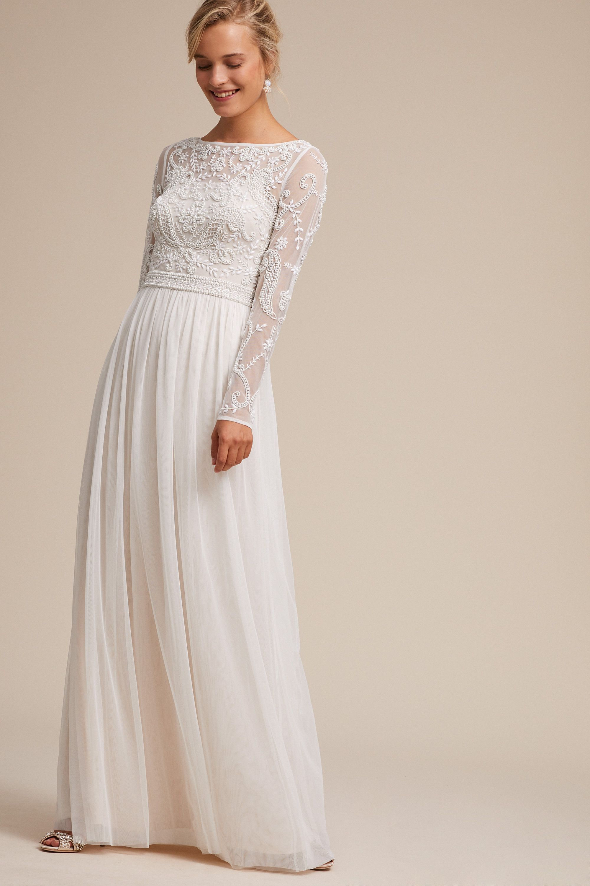 Bhldn S Sinclair Dress In Ivory Champagne Gorgeous Wedding Dress