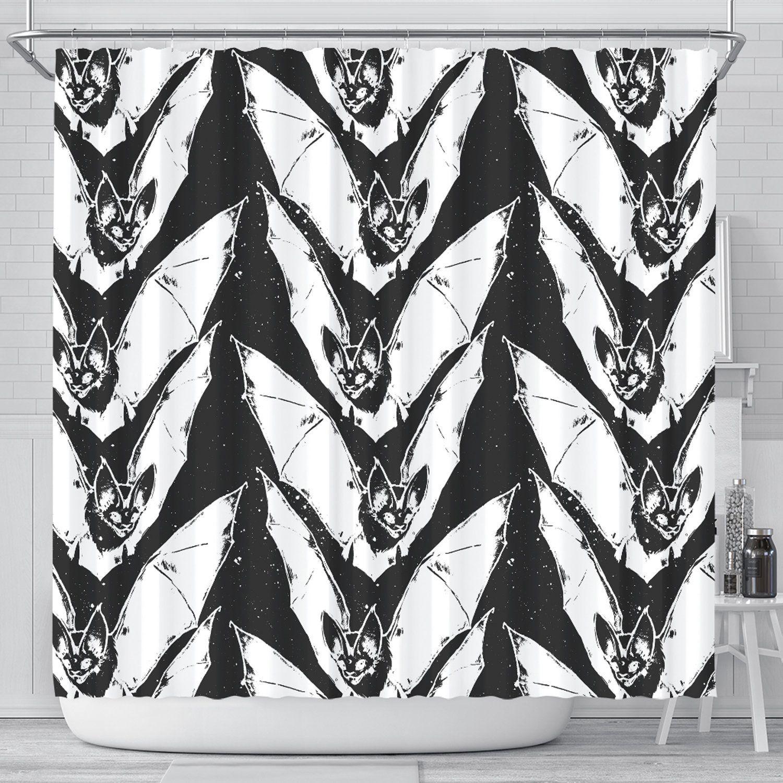 Goth Shower Curtain Bat Shower Curtains Gothic Bath Curtain
