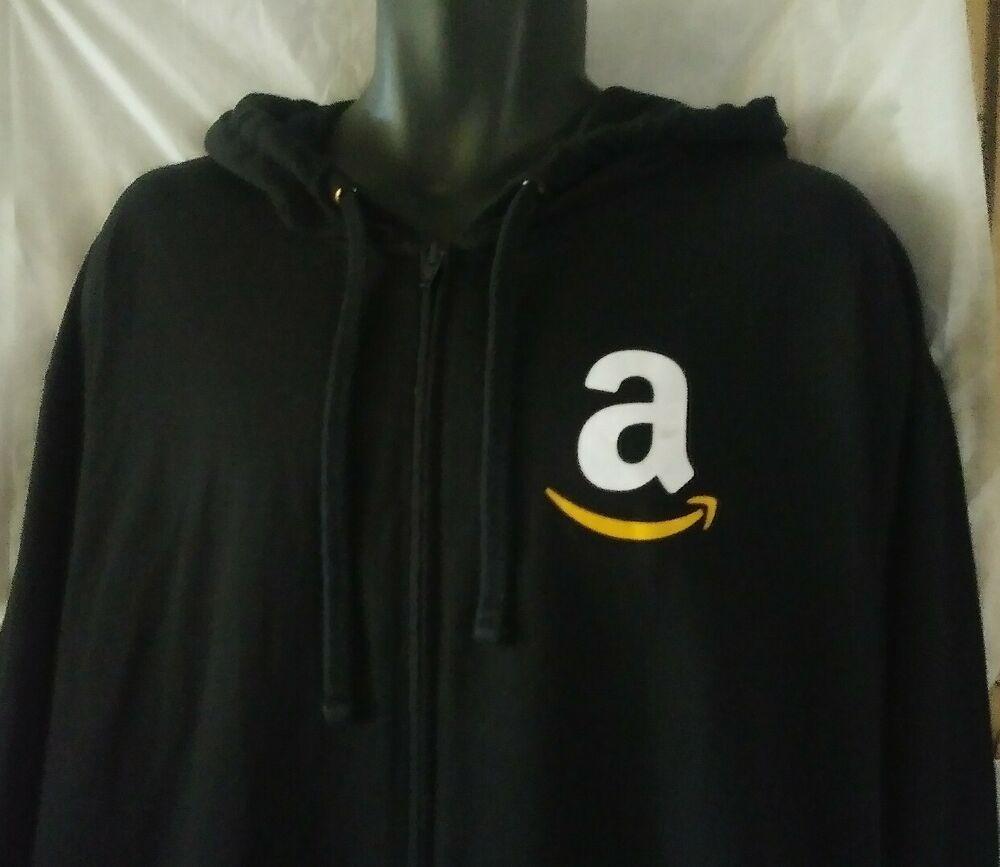 Amazon Logo 3xl Employee Black Jacket Lightweight Sweatshirt