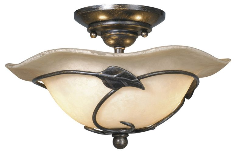Decorative Star Ceiling Light Semi Flush Bathroom Fixture: Vaxcel Lighting Vine Traditional Ceiling Fan Light Kit