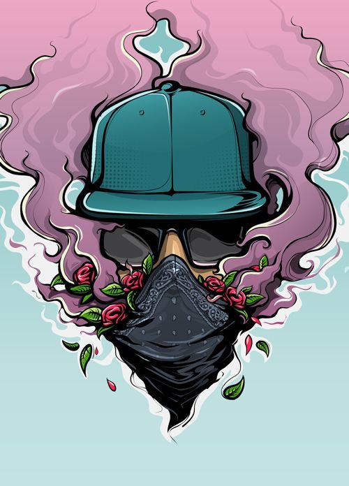 Urban Vibes By Bernard Salunga Via Behance Street Art Vape Wallpaper Graffiti Cafe