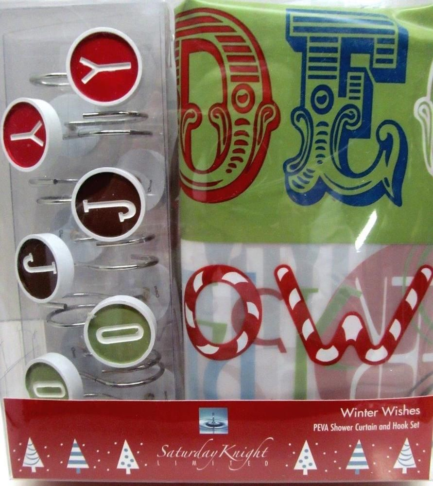 Christmas shower curtains on ebay - Find Best Value And Selection For Your Christmas Shower Curtain And Hooks Set Winter Wishes Holiday Bath Joy Search On Ebay World S Leading Marketplace