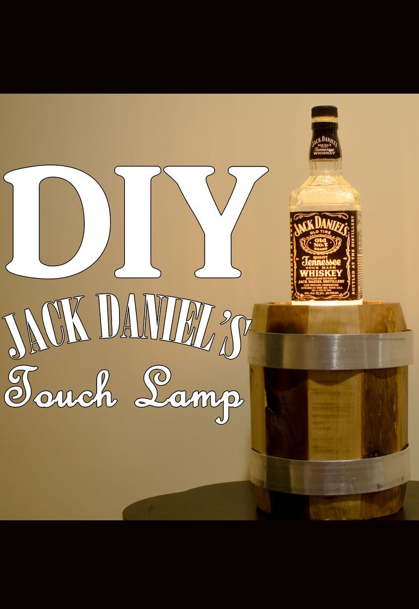 Touch activated lamp with recycled #JackDaniels bottle.