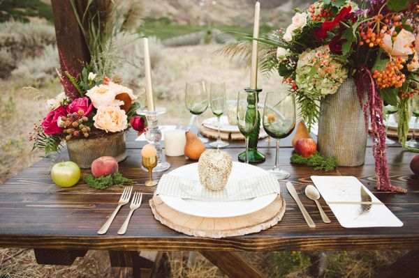 Glittery Thanksgiving Wedding Ideas