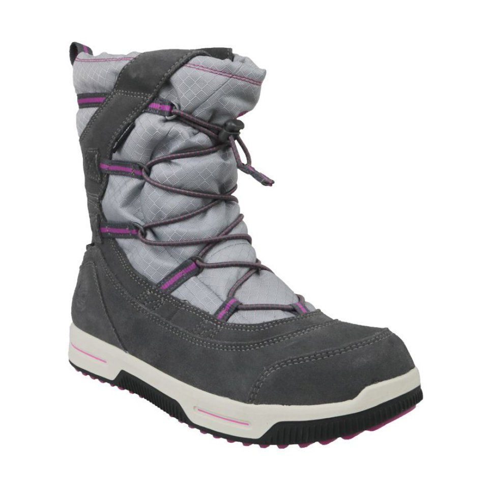 Buty Zimowe Timberland Snow Stomper Pull On Wp Jr A1uj7 Szare Winter Boots Kids Winter Boots Boots
