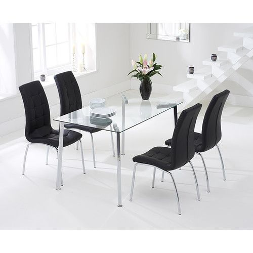 Crovetti Dining Set with 4 Chairs