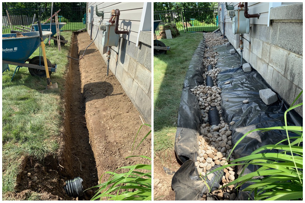 Foundation French Drain Drainage System