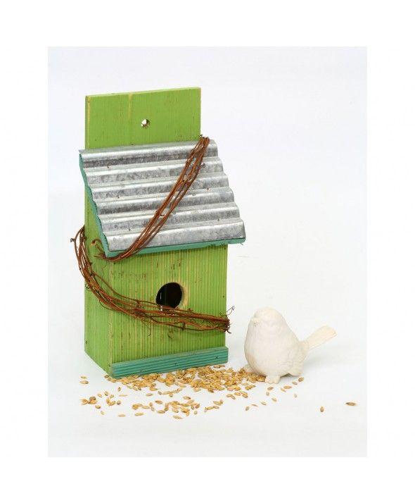 Wooden Single Bird House