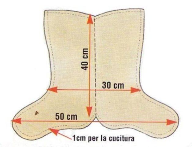Modello da stampare per realizzare la calza della befana - Modelli di ghirlanda stampabili ...