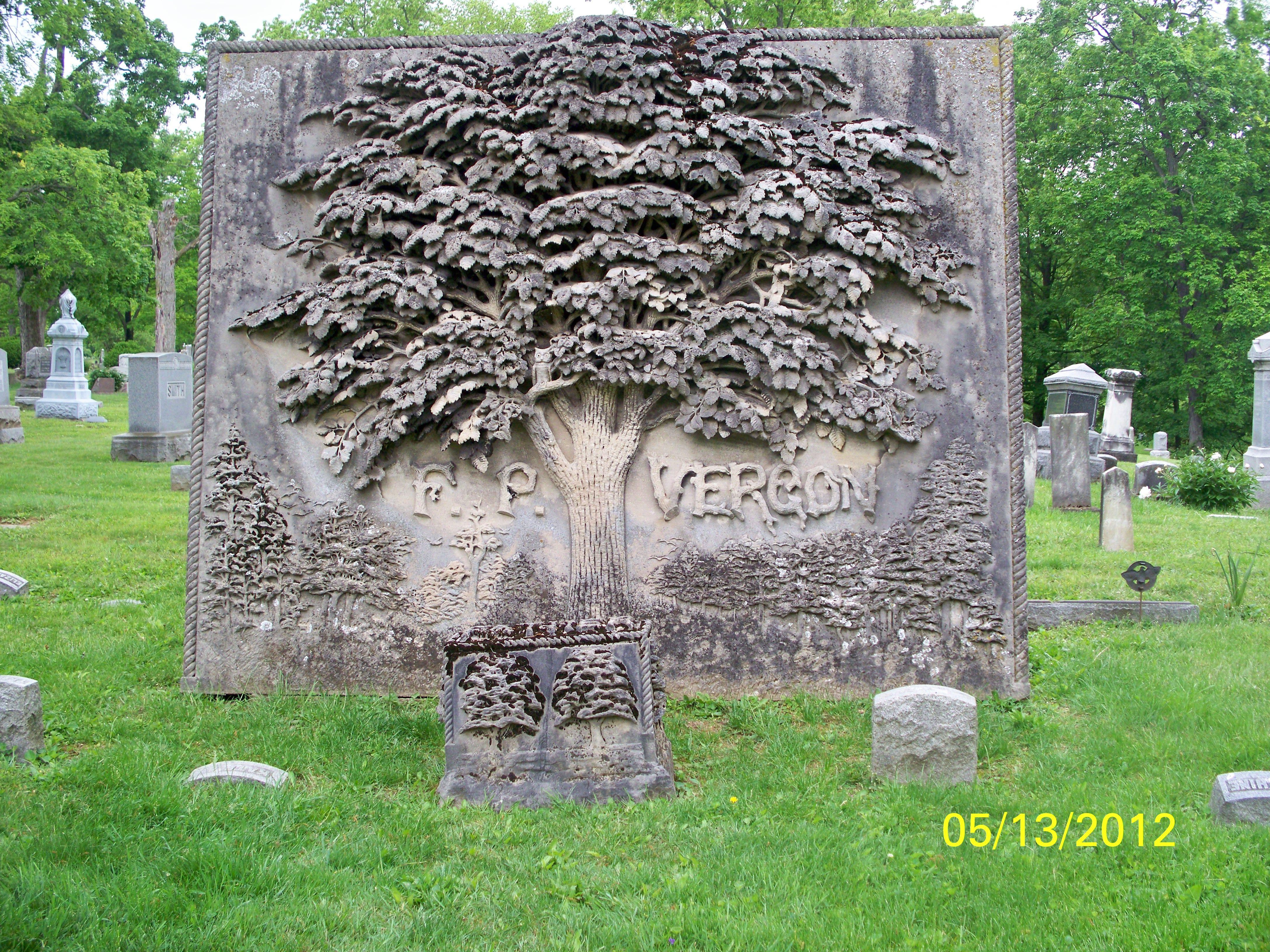 Vergon Monument Oak Grove Cemetery Delaware Ohio Gravestone Cemeteries Ohio Travel