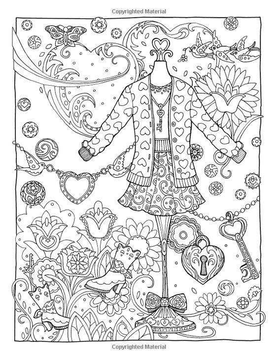 Fanciful Fashions Coloring Book Marjorie Sarnat 9780983740445 Amazon Books