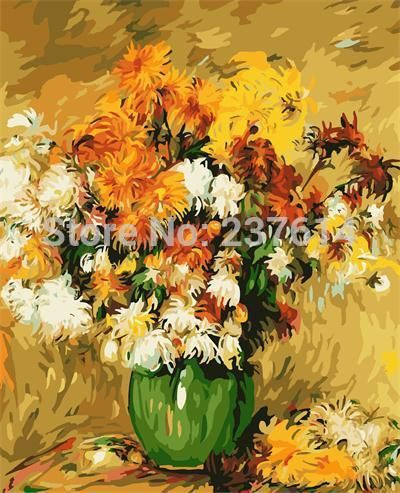 40X50CM Oil Painting By Numbers Kit Craft DIY Paint On Canvas Frameless Flowers