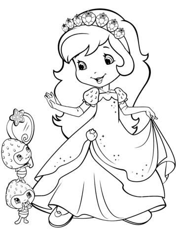 Strawberry Shortcake and Berrykins Coloring page | Strawberry ...