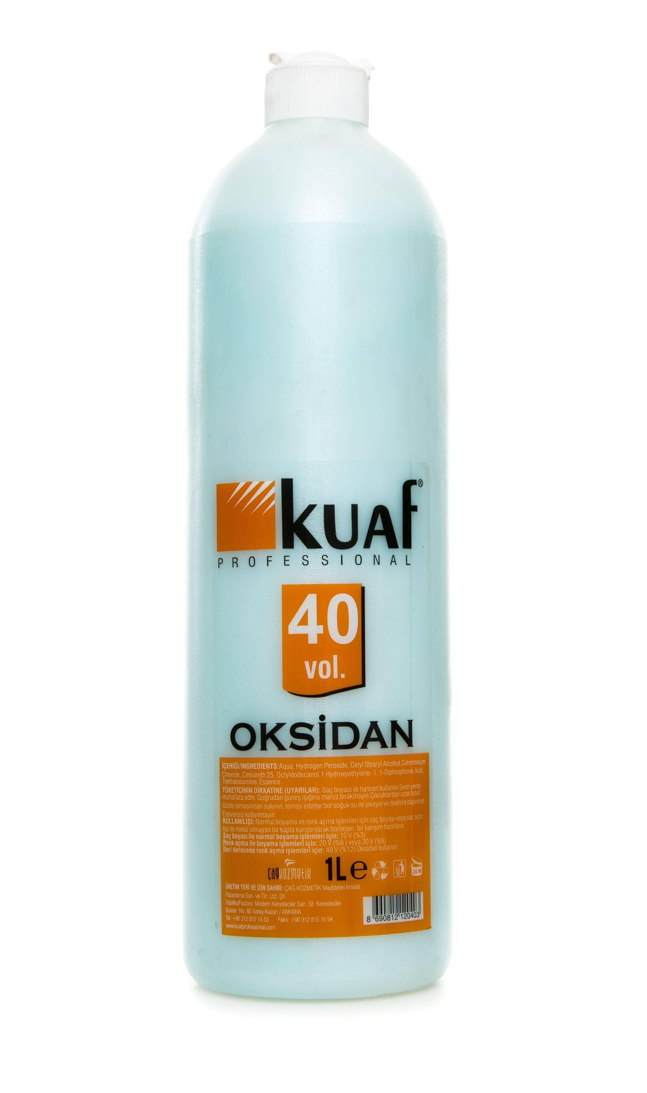 Kuaf Mavi Oksidan 40 Vol 1 Lt Benzersiz Krem Formulu Ile