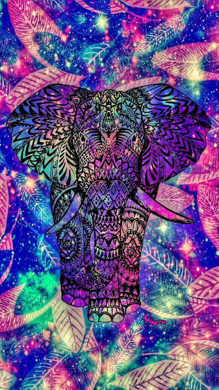 Tribal Elephant Diy 5d Diamond Painting Full Drill Elephant Wallpaper Galaxy Wallpaper Iphone Wallpaper