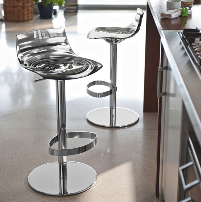 Contemporary Calligaris L\'eau Bar Stool in Various Colours with ...