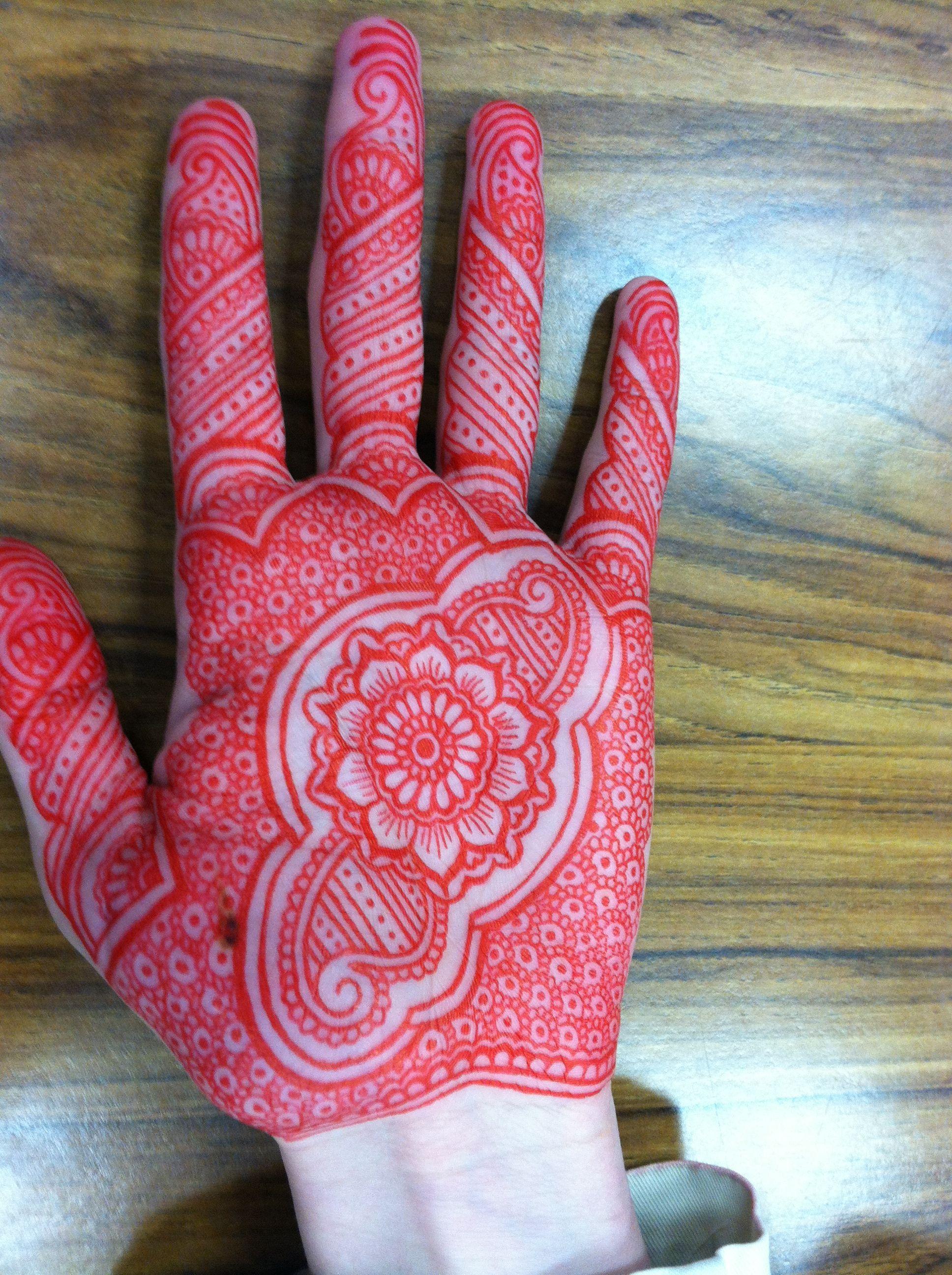 Mehndi Henna Pen : Henna designs with a red gel pen pinterest