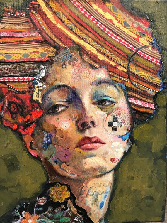 """Mixed Media Print on Canvas 