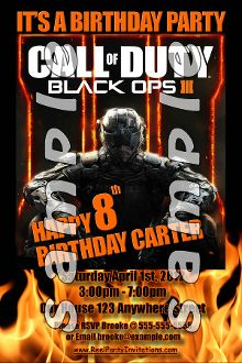 Call of duty black ops 3 4x6 invitations with envelopes call of call of duty black ops 3 4x6 invitations with envelopes filmwisefo