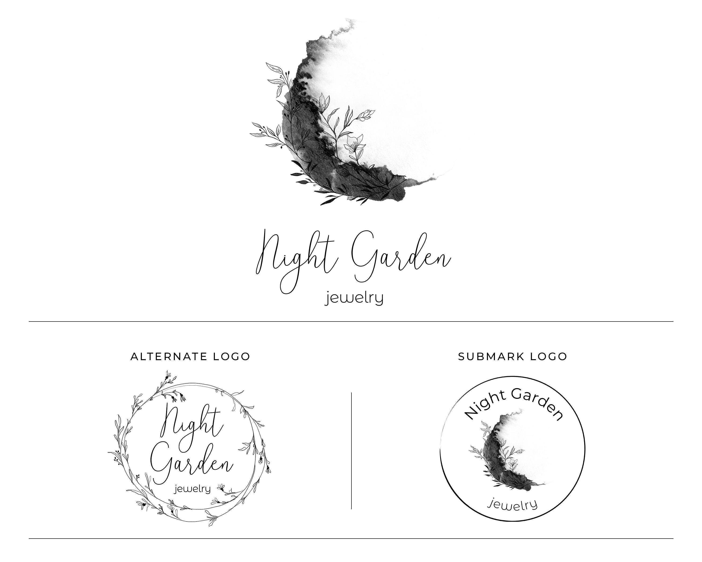 Premade Branding Design Custom Logo Design Black