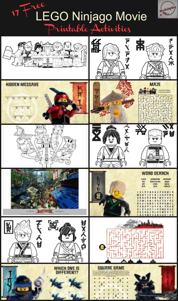 17 Free LEGO Ninjago Movie Printable Activities & Online