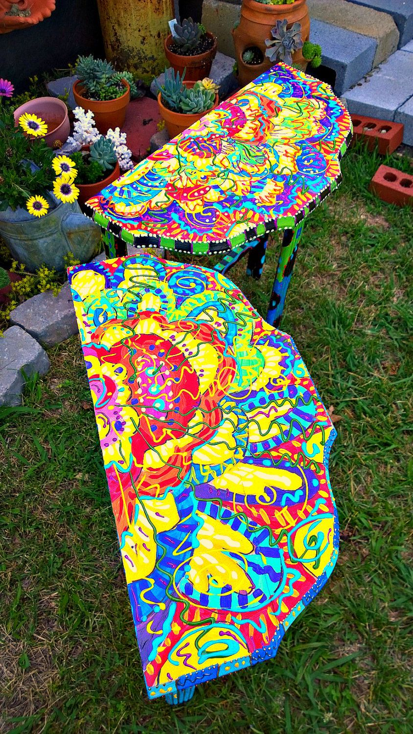 Functional Art: Two recycled end tables by TheImpossibleChild ...