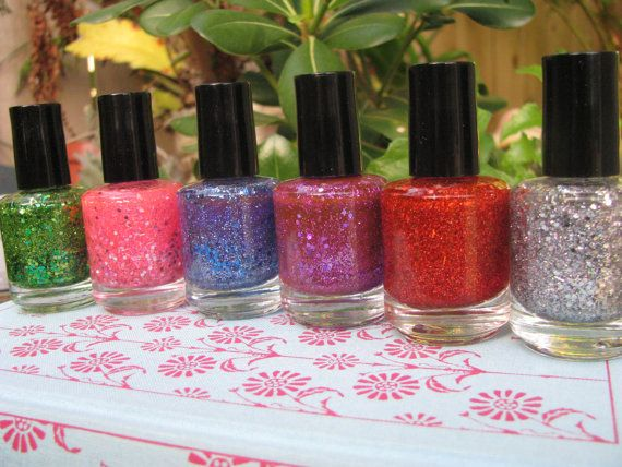 Glitter Explosion Nail Polish By Tinaandlucy On Etsy 7 00 Love It