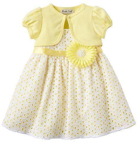 Rare Editions Eyelet Dress Shrug Set Baby Girl Kohls Com