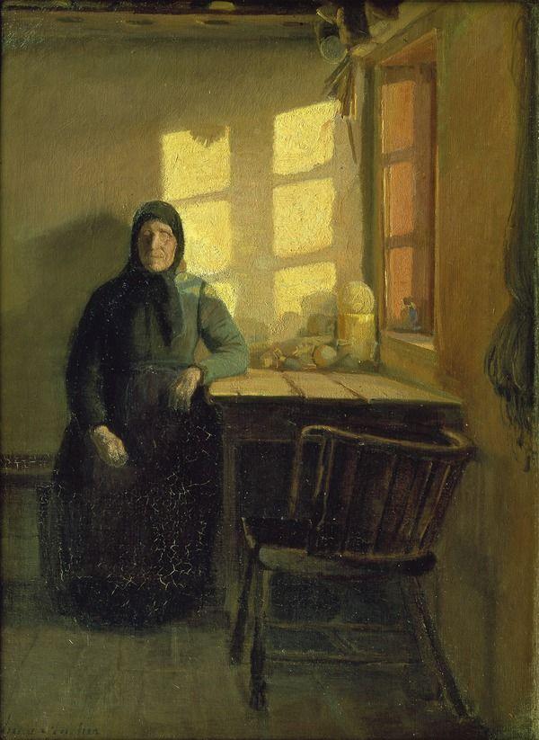 Anna Ancher: Solskin i den blindes stue, (1883)