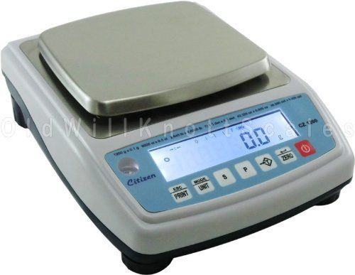 Citizen CZ1200 NTEP Approved Jewelry Scale by Citizen. $259.56. The Citizen CZ 1200 is a NTEP Certified Legal for Trade Jewelry and Gold Scale. This precision scale has a 1200 gram capacity with 0.1 gram resolution plus carat (6000.0 ct x 0.5 ct), pound (2.6455 lb x 0.0005 lb), pennyweight (771.6 dwt x 0.1 dwt), ounce (42.325 oz x 0.005 oz) and troy ounce (38.580 ozt x 0.005 ozt) weighing units. Programmable backlight, RS232, AC adapter, stainless platform and more.