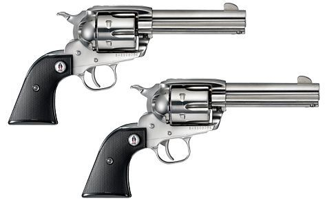 Dual Ruger Vaquero  45's  Polished stainless steel, with