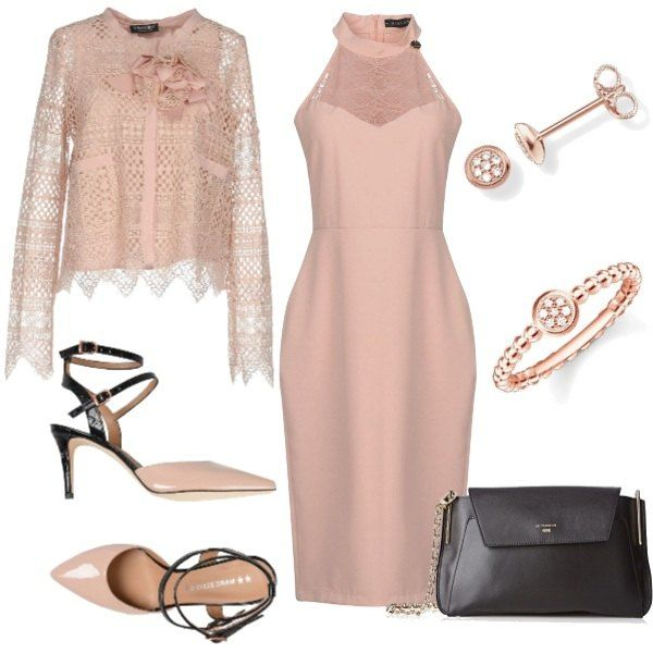 55f575f5e98a Una pochette nera basic e gioielli semplici. Look perfetto per una  cerimonia o per un evento speciale di ...