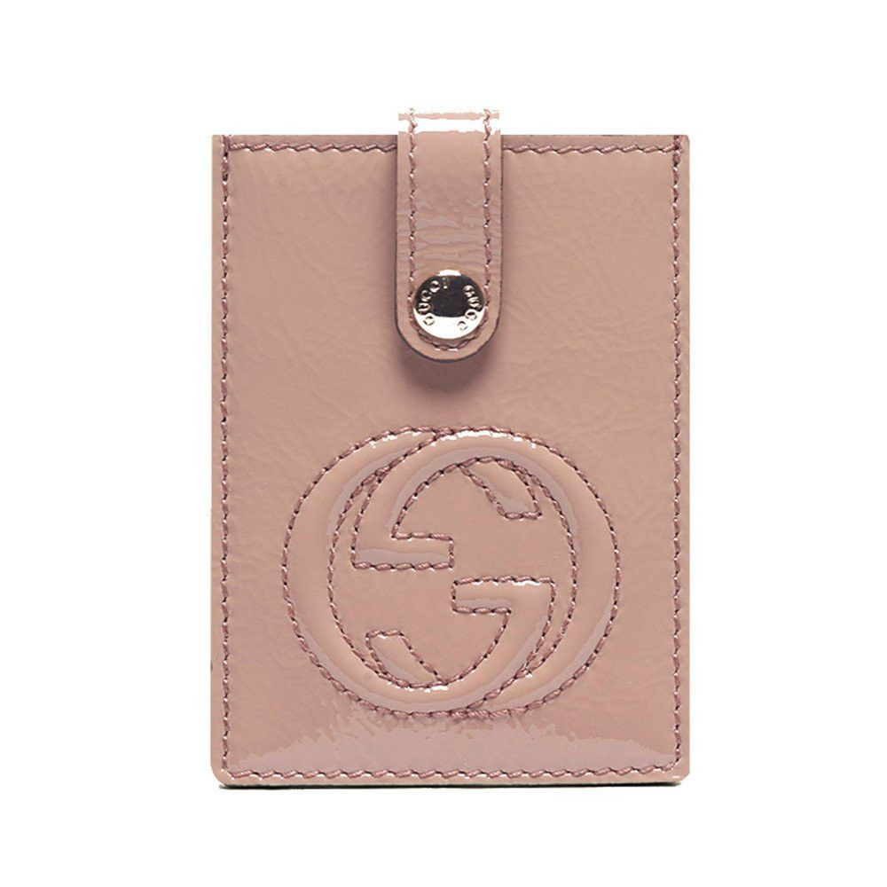 b5db6fa8902 Gucci  Soho  Soft Patent Leather Card Case Wallet