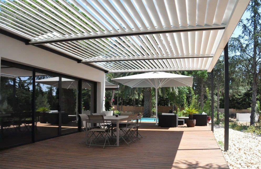 pergola adoss e en aluminium lames orientables bioclimatique solisysteme vid os. Black Bedroom Furniture Sets. Home Design Ideas