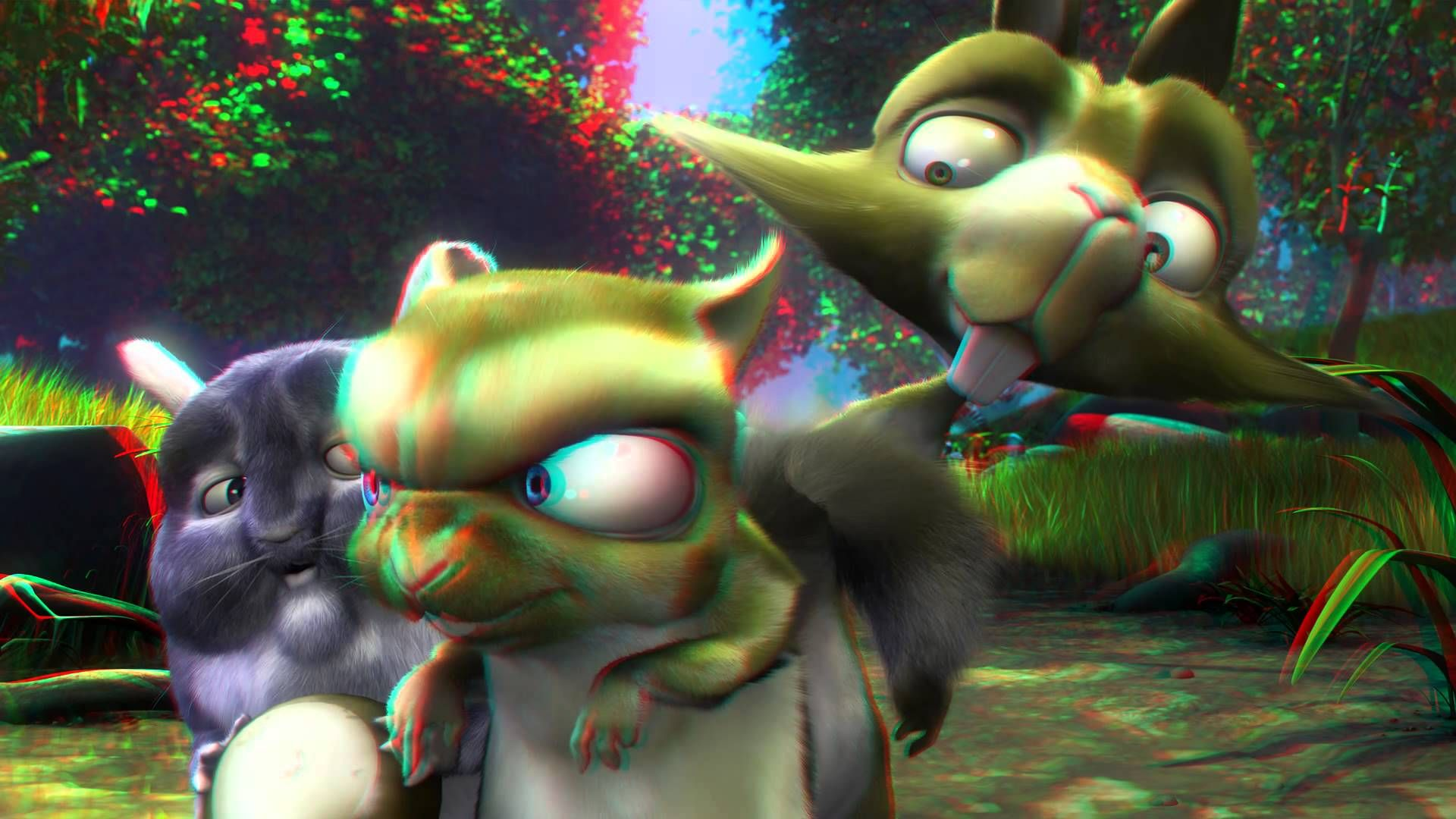 Anaglyph 3D Video Animation Cartoon Full HD Red Cyan