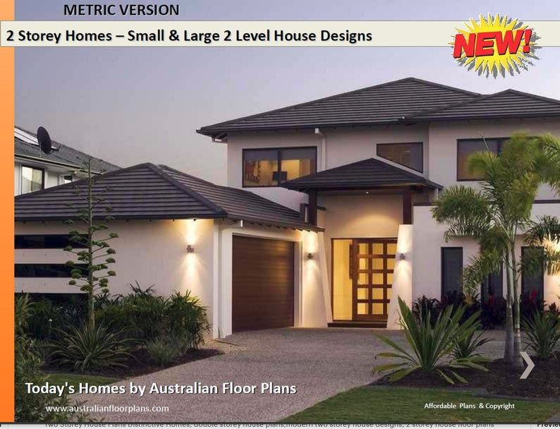 Two Storey House Plans Distinctive Homes Double Storey House Etsy In 2020 Double Storey House Two Storey House Plans Double Storey House Plans
