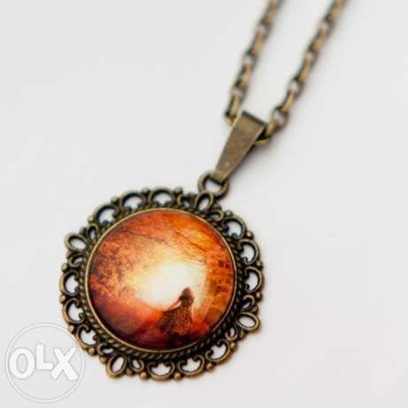 Naszyjnki, medaliony, amulet, wisiorek, kabaszon, Sanura hand made Gliwice - image 3