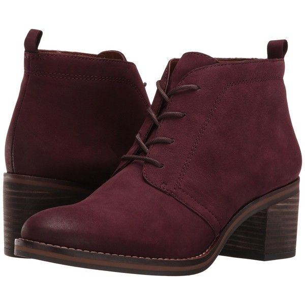 4a9ade879f7d Franco Sarto Bethea (Burgundy Suede) Women s Boots ( 76) ❤ liked on Polyvore  featuring shoes
