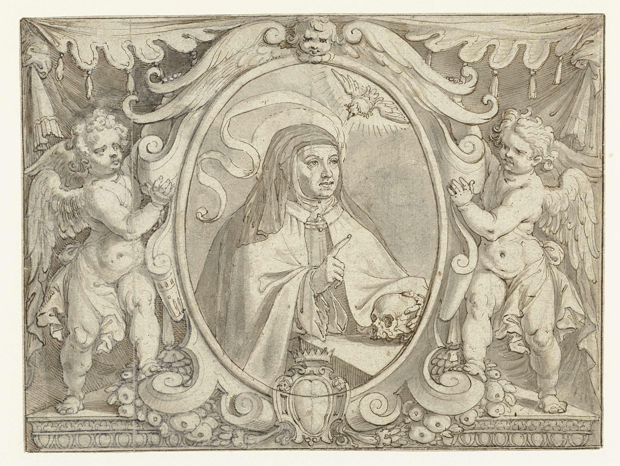 Portret Van Teresa Van Avila Pieter De Jode I 1611