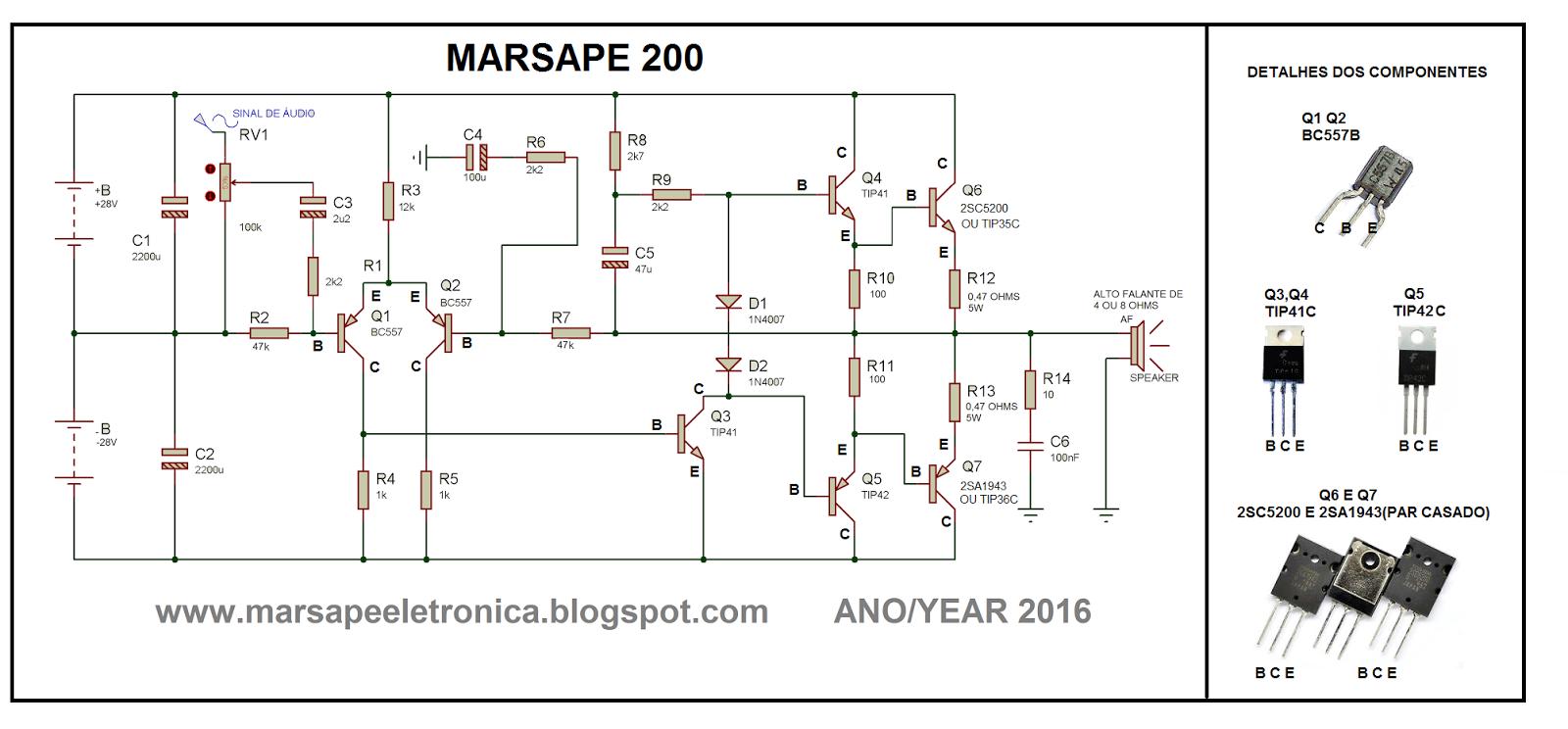 Marsape Eletrnica Amplificadores De Udio Batista Usb Power Booster Circuit Diagram Nonstopfree Electronic Circuits Audio Projects To Try